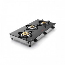 Butterfly 3 Burner Glass Top Jet Gas Stove