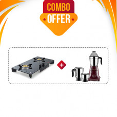 BUTTERFLY GAS STOVE GT PRISM PLUS 2B F + BUTTERFLY MIXIE JET (3 JAR - 750W)