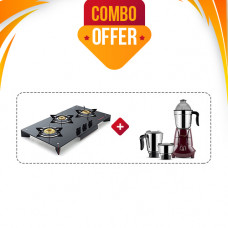 BUTTERFLY GAS STOVE GT PRISM PLUS 3B T + BUTTERFLY MIXIE JET (3 JAR - 750W)
