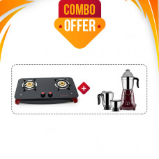 BUTTERFLY SIGNATURE PLS 2B RED T GAS STOVE + BUTTERFLY MIXIE JET (3 JAR - 750W)