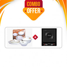 Butterfly Platinum 2.O Induction Stove + Thangam Gift Dinner Set 24 Pcs