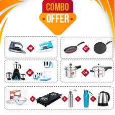 SOWBAGHYA BREEZE / PIGEON GLORY MIXIE  + SOWBAGHYA STOVE 2B + DINNER SET 24PCS + PREMIER FRY PAN / BUTTERFLY TAWA + SOWBAGHYA /PIGEON COOKER 3L + FRESHOME KETTLE 1.8L+ CROMPTON IRON ACGEI-RD / ACGEI-SD + FRESHOME BOTTLE 1000ML/ 750ML + BUTTERFLY FLASK