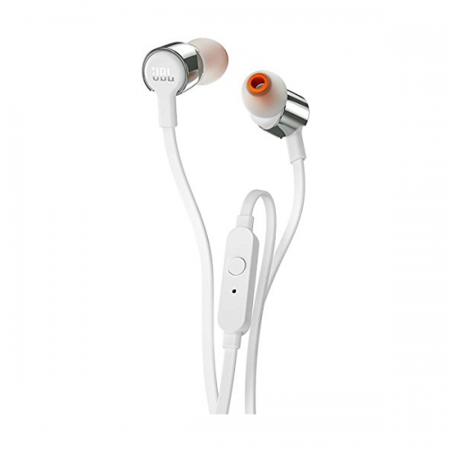 JBL T210 Pure Bass in-Ear Headphones with Mic (Grey)