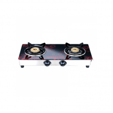 Sowbaghya Compact 2 Burner Glass Top Gas Stove