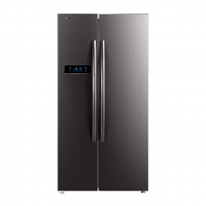 Toshiba GR-RS530WE-PMI(06) 584 L Real Inverter Side by Side Refrigerators (Stainless Steel Finish)
