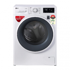 LG 6.0 Kg 5 Star Inverter Fully-Automatic Front Loading Washing Machine (FHT1006ZNW, White)